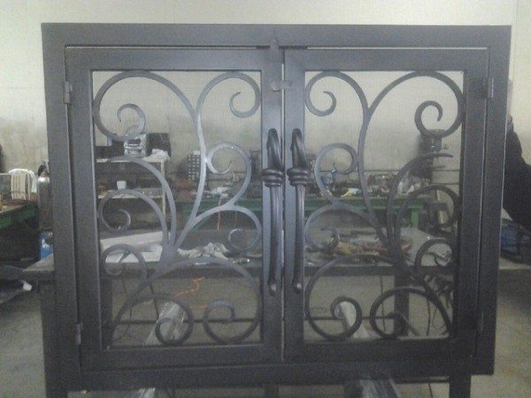 ... install your new custom iron fireplace screen or screen door at a  competitive and reasonable price. We don't leave the job until you are 100%  satisfied. - Iron Fireplace Screens Custom Fireplace Screens & Doors Iron Elite